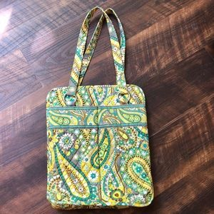 NWOTVera Bradley Lemon Parfait Perfect Pocket Tote